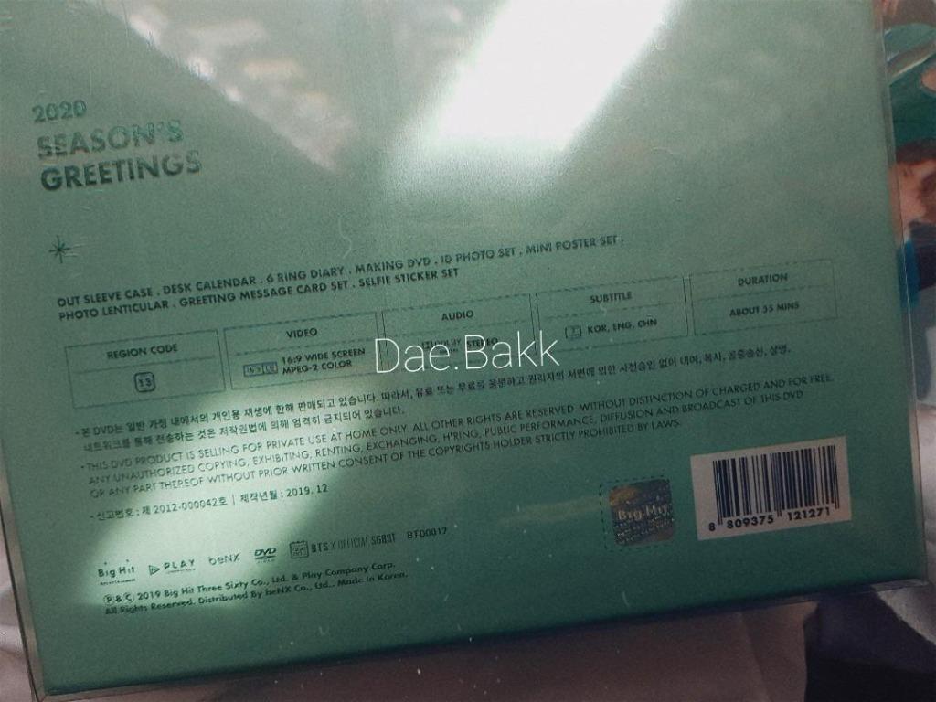 [LAST ONE] BTS 2020 Season Greeting DVD + Mouse Pad