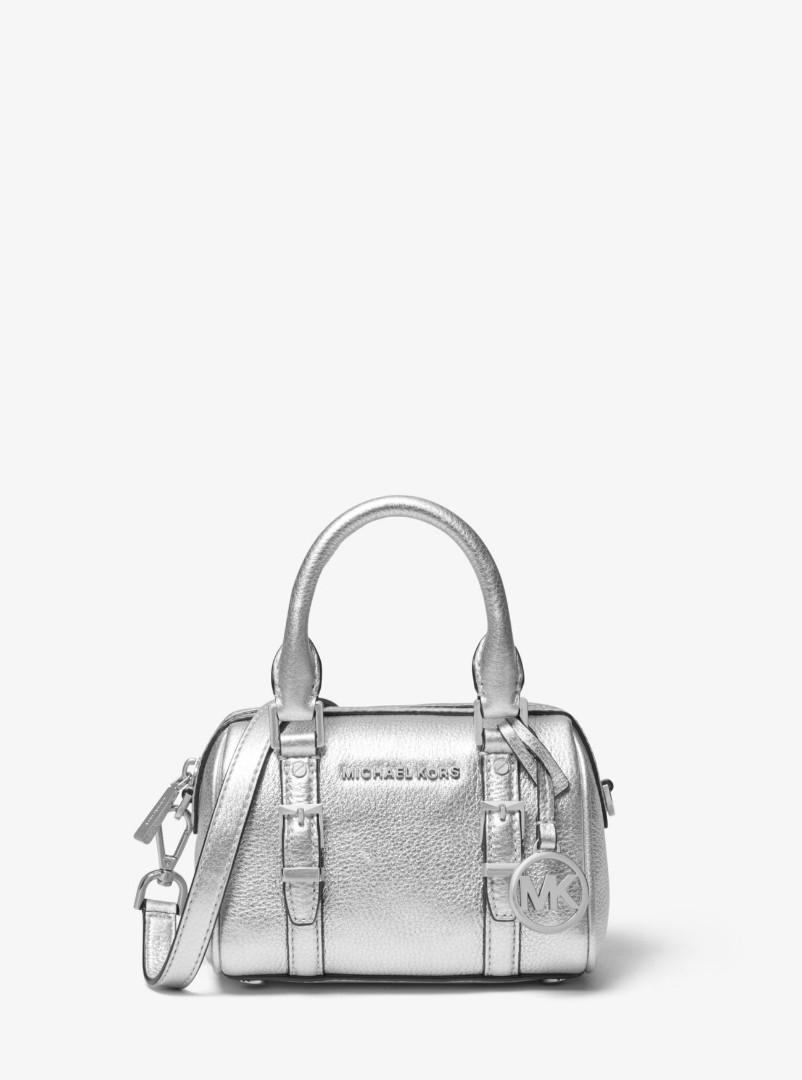 MICHAEL KORS Bedford Legacy Extra-Small Metallic Leather Duffel Crossbody Bag 32H9S06C0M
