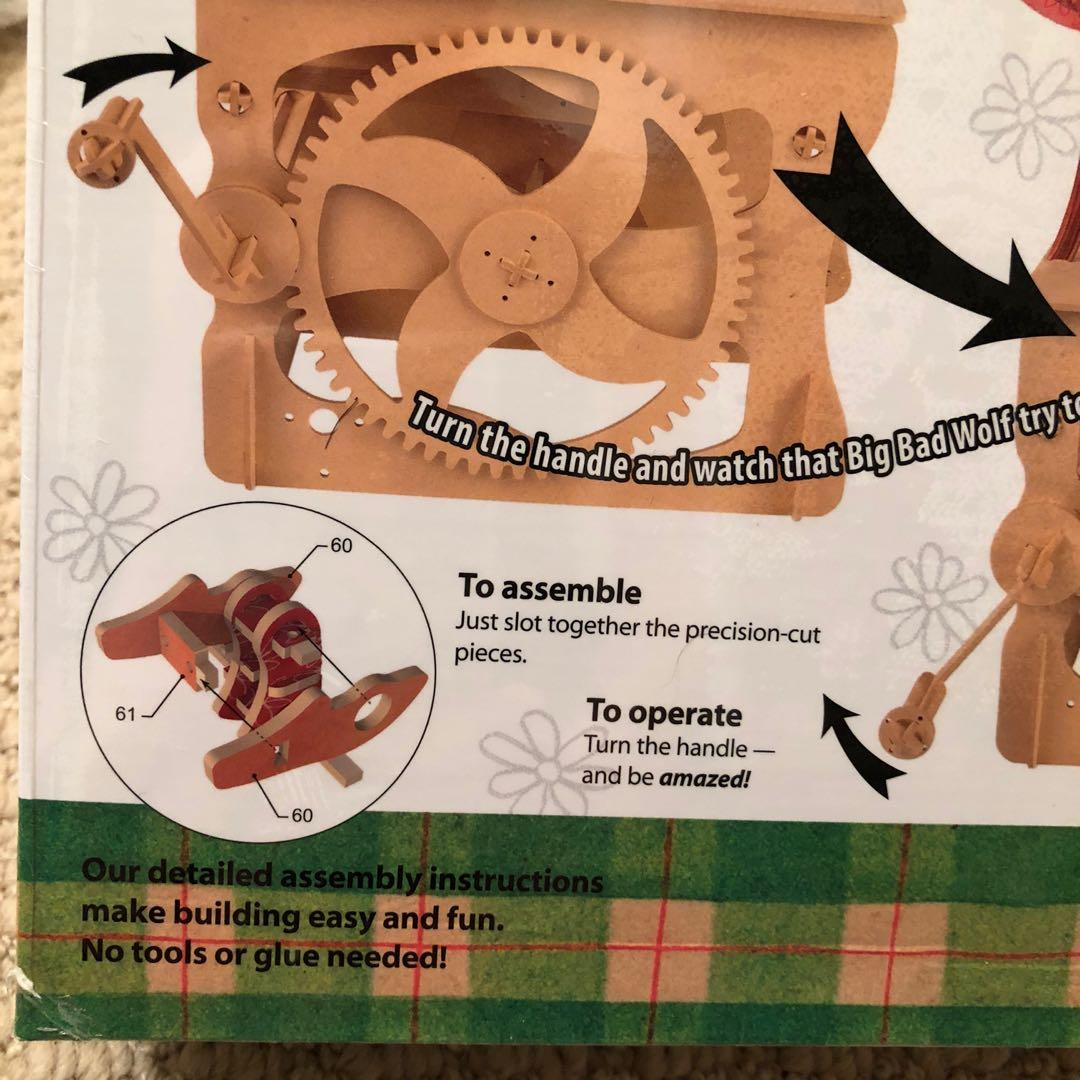 NEW! Wooden Automata Red Riding Hood Set + Accessory Music Box