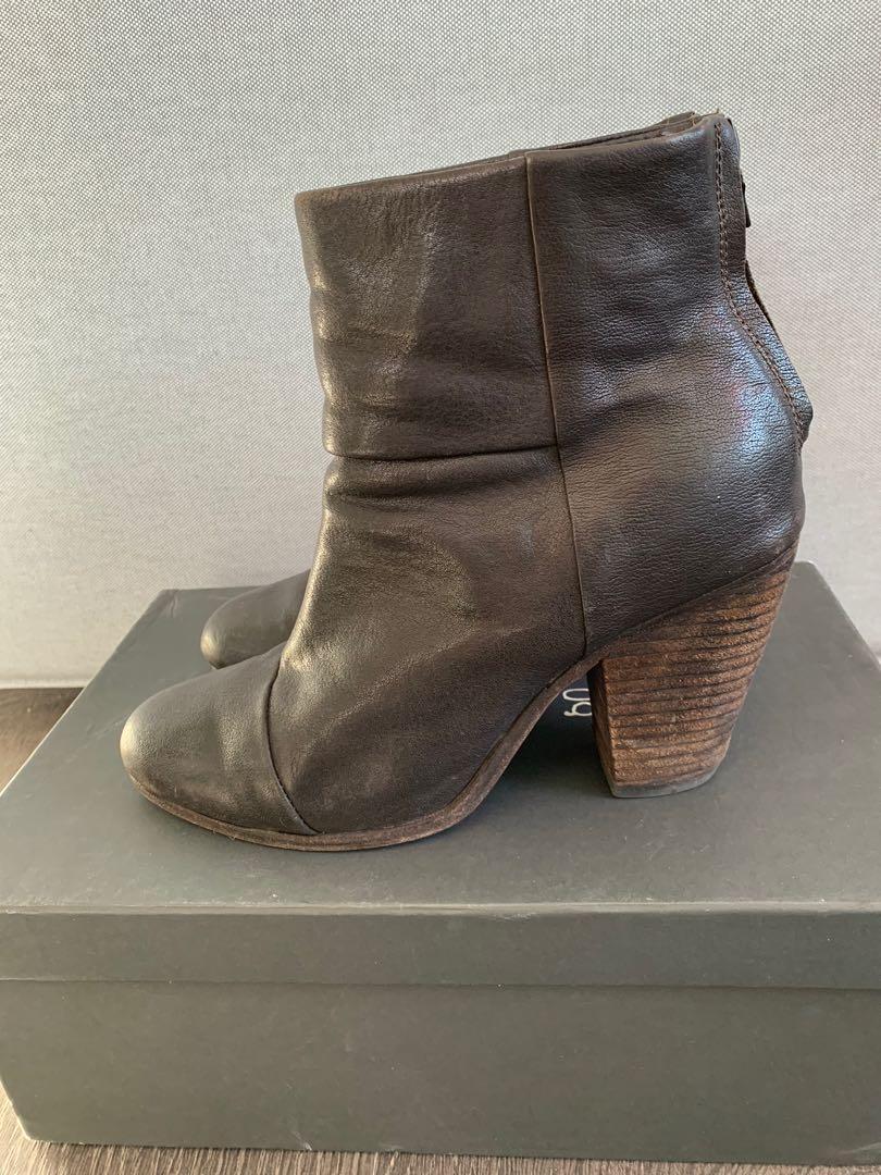 Rag & Bone Newbury Boots Booties Size 39 in Dark Brown