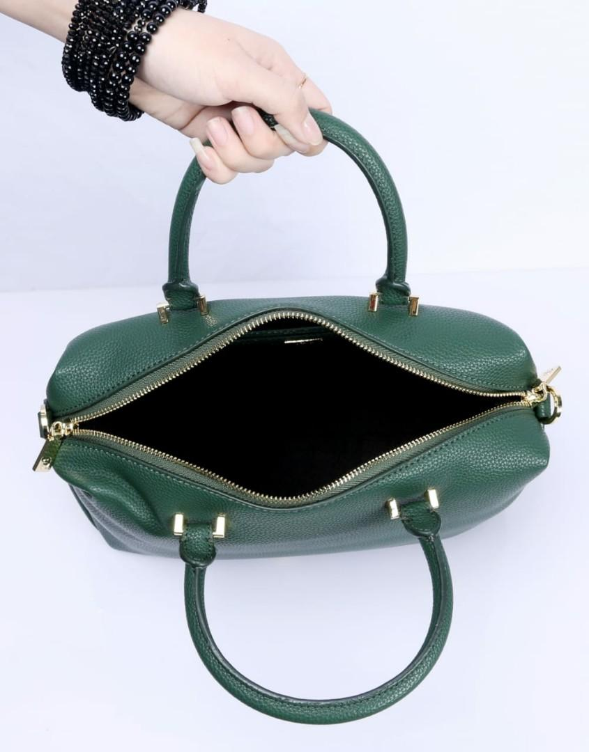 Tas  AIGNER ROMA Handtasche  generbtes Handbags Grained Cowhide Gold Like ori Clemence Leather