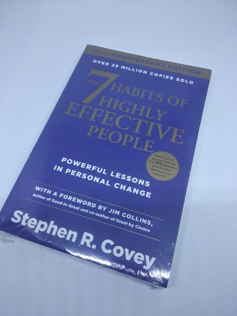 The 7 Habits of Highly Effective People by Stephen Covey Self Helf Book