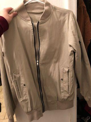 BOMBER JACKET small beige color