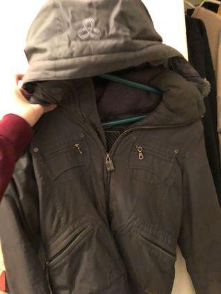 TNA winter jacket gray xsmall