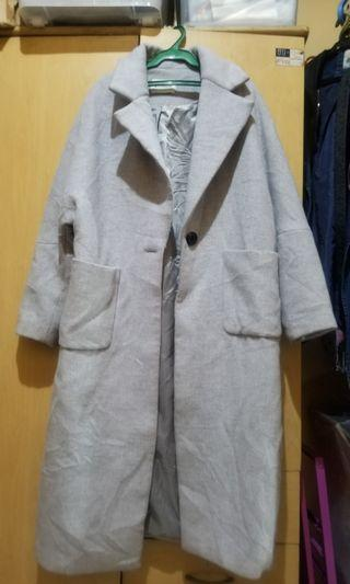 Gray trench coat fits large