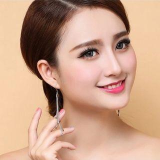 |時尚優雅選品|金屬米粒流蘇耳飾耳環