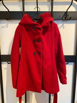 毛呢外套(紅色)