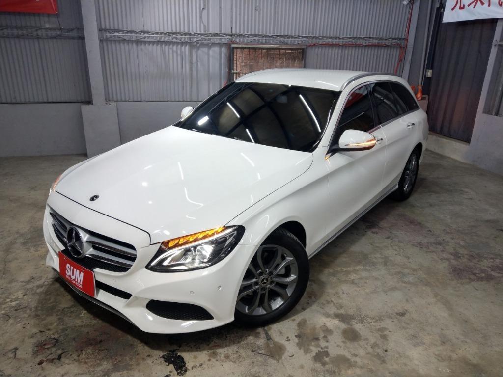 ✨✨2015年Mercedes Benz C200 5門 1.6d白色 ✨✨ 📌 📌 📌 📌 尊榮售價122.8萬📌📌 📌 📌