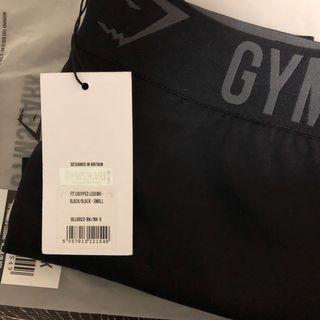 NWT Gymshark Black Fit Cropped Leggings
