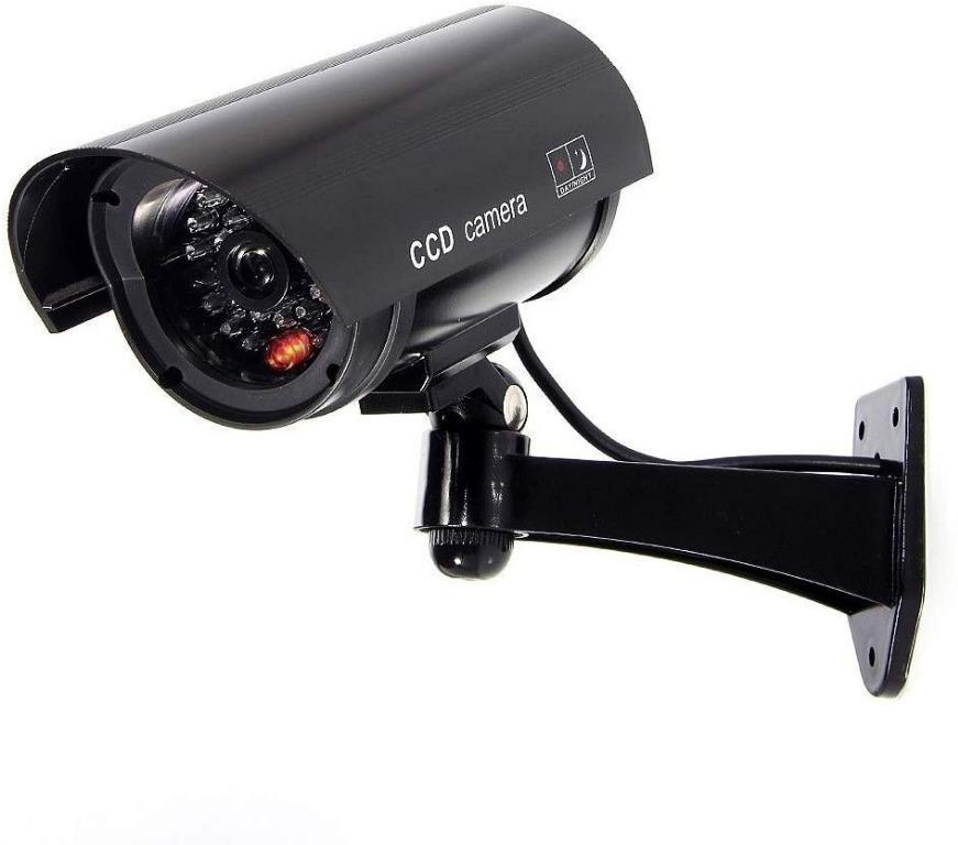 Dummy Security CCTV Surveillance Camera with Flashing LED Light