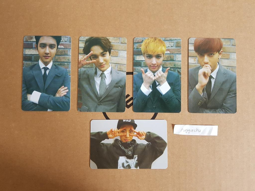 EXO D.O KAI LAY TAO CHANYEOL Growl Album PVC Photocard