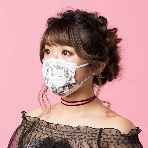IN-STOCK & FAST SHIPPING!! Tecmask PM 2.5 Rose Black Designer Surgical Mask Face 3Ply Nonwoven With Earloop
