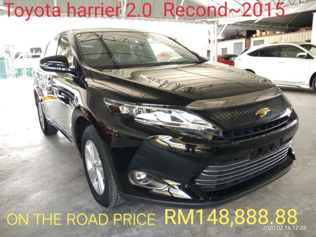 ON THE ROAD PRICE RM148,888.88👍👍👍 TOYOTA HARRIER 2.0 Elegance RECORD2015🇯🇵>📱0⃣1⃣2⃣2⃣3⃣6⃣7⃣2⃣7⃣2⃣ SENGSENG☺🙏