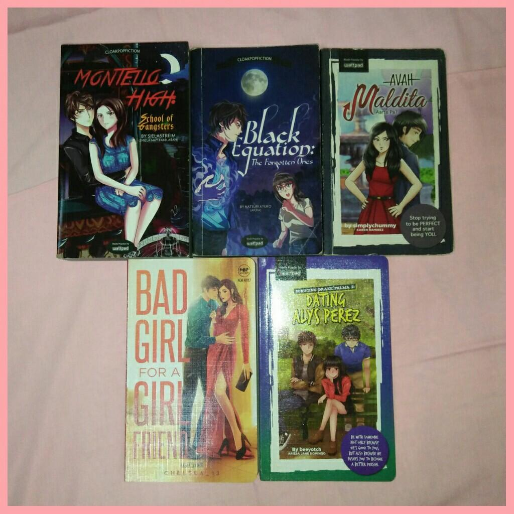 POP FICTION Books (Montello High, Bad Girl for a Girlfriend, Dating Alys Perez, Avah Maldita, Black Equation)