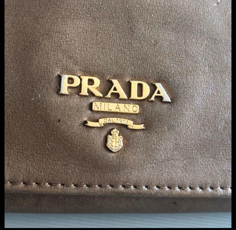 Ready stock  8/10 condition, authentic, Prada Wallet, original price CNY 3200