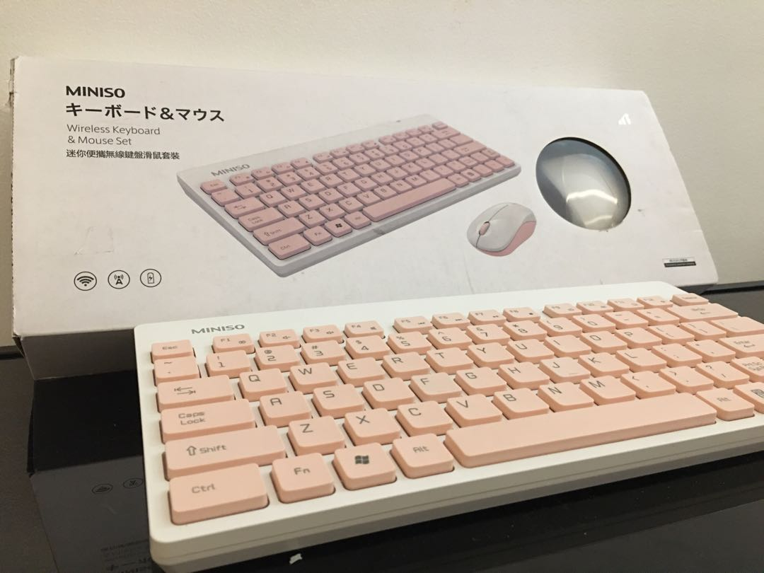 Wireless keyboard with mouse set