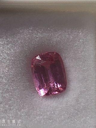 [珍寶石]天然粉色尖晶  Spinel  裸石1.66克拉  火彩好  淨度高  適合送給女友  現貨1件  不退