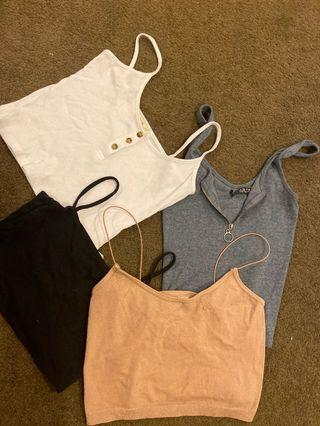 Crops/ Tops - all 4 $9 or two 4 $4
