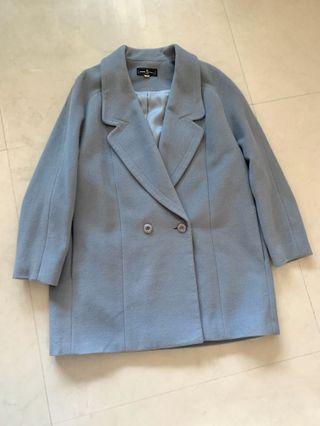 古著 灰藍色 大衣