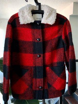 Aritzia Wilfred Free sherpa collar wool jacket