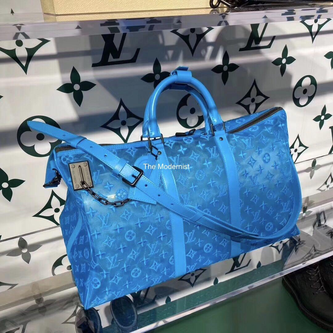 Authentic Brand New Louis Vuitton Keepall Triangle Bandoulière 50 M45048