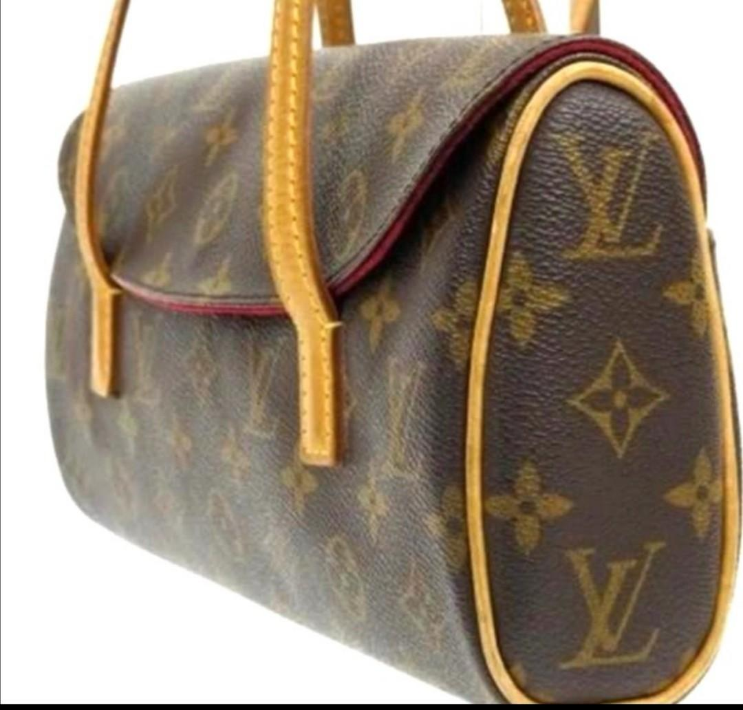 Authentic with code number. Pre-Loved Classic Louis Vuitton LV Monogram Sonatine HandBag M51902