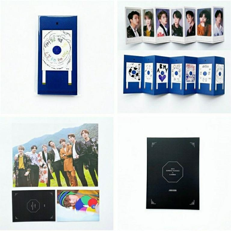 Bts 2019 Summer Package Photo Stand Card/Member Photo Card + poster