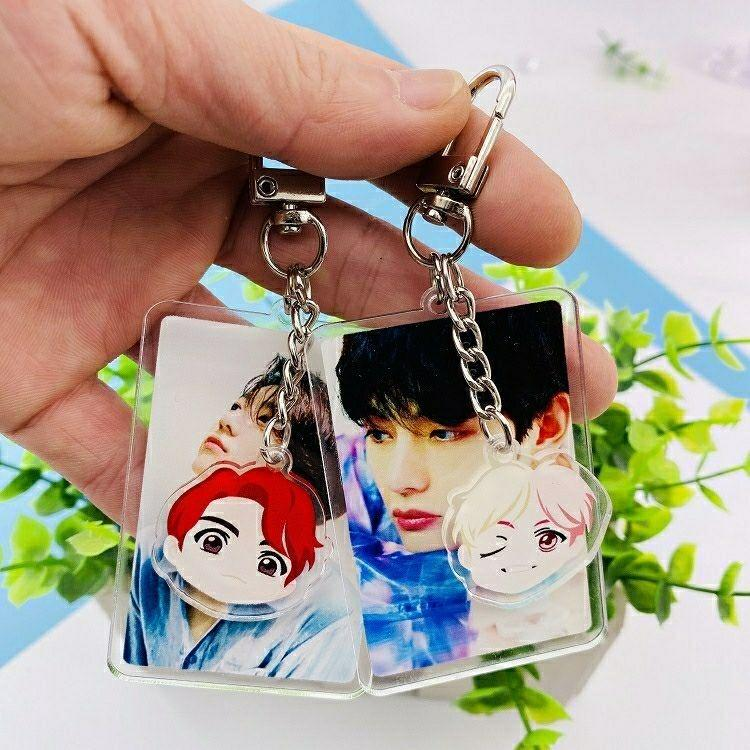 BTS Season's Greeting Keychain + Mini Cartoon Character Keychain unofficial