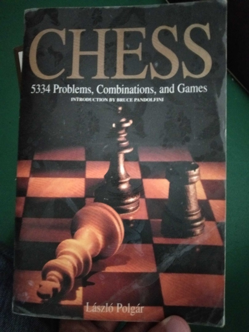 """Chess book """"5334 Chess Problems, Combinations, and Games"""" by Laszlo Polgar"""