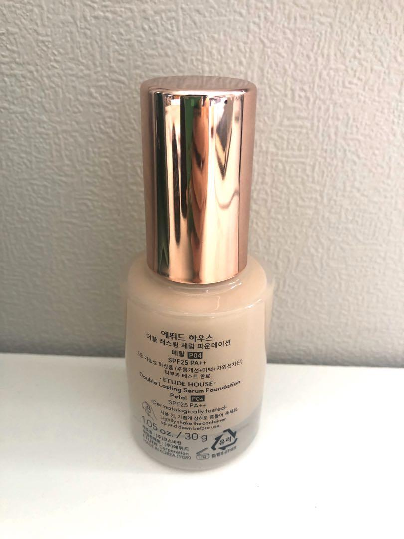 Etude house double lasting serum foundation (shade #P04 Peral)