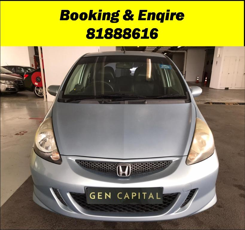 Honda Jazz No more monday blues.. We have lowered rental rates due to Coronavirus for you to travel with a peace of mind. Fuel efficient & Spacious. $500 Deposit driveoff immediately! whatsapp 81888616 now to reserve!!