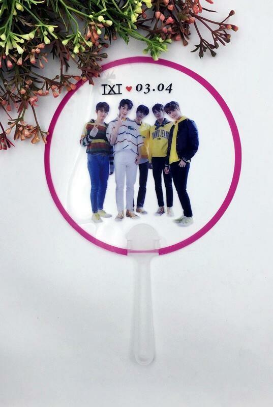 Kpop transparent handfan [ straykids bt21 bts itzy txt got7 twice ]