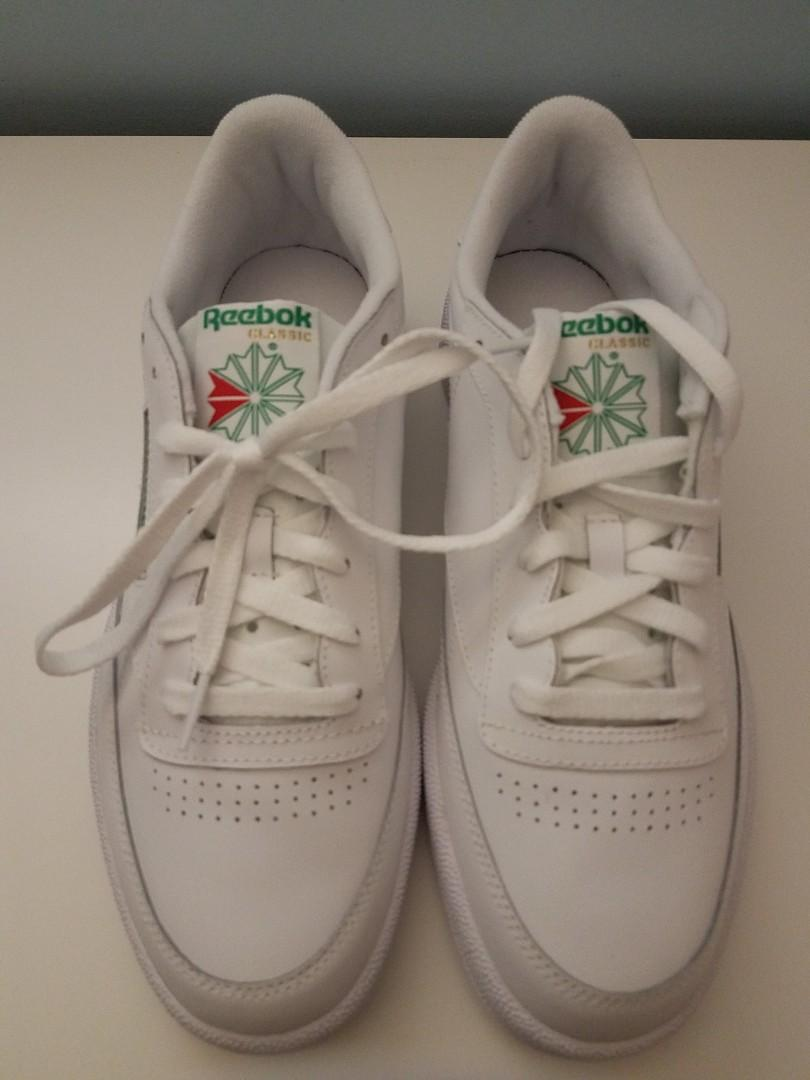 Reebok Classic Club C 85 White/Green Men's Size 10