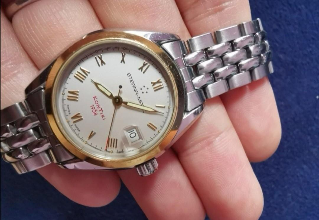 Vintage 18k Gold Eterna-Matic Chronometer Kontiki 1958 Automatic Watch