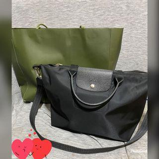 Longchamp neo挺版短把黑色m號