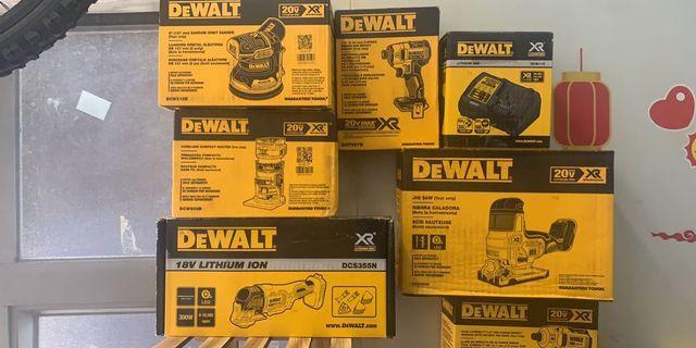 木工師傅必備. Dewalt20V無缐工具套裝