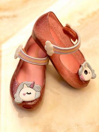 Mini Melissa ultragirl unicorn jelly shoes