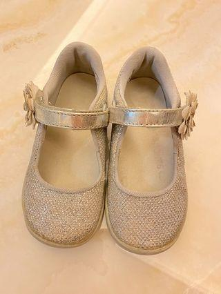 Stride rite sparkle glitter silver mary jane girl shoes