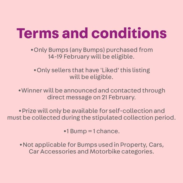 Bump and win a pair of APPLE WATCHES! [14-19 FEB] Bump and 'Like' this listing to stand a chance to win!