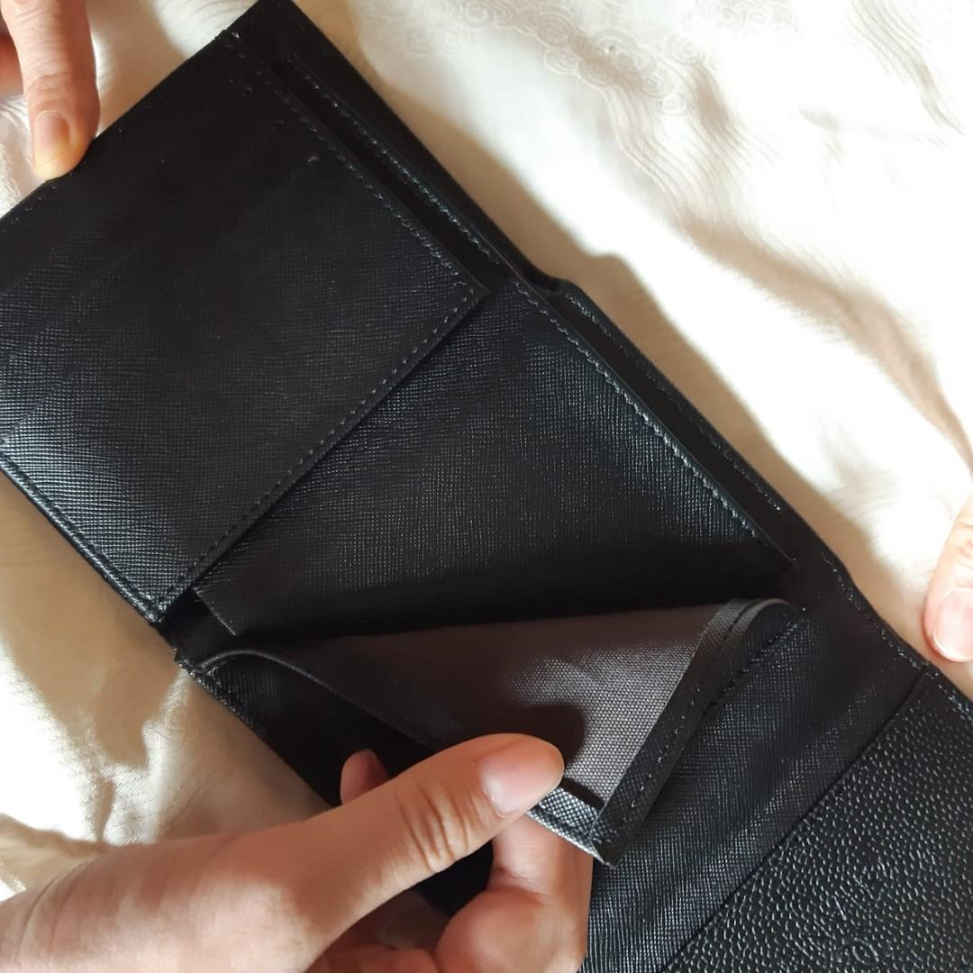 Chanel Small Black Folded Leather wallet dompet Premium high Quality (worn 1x/no stain)