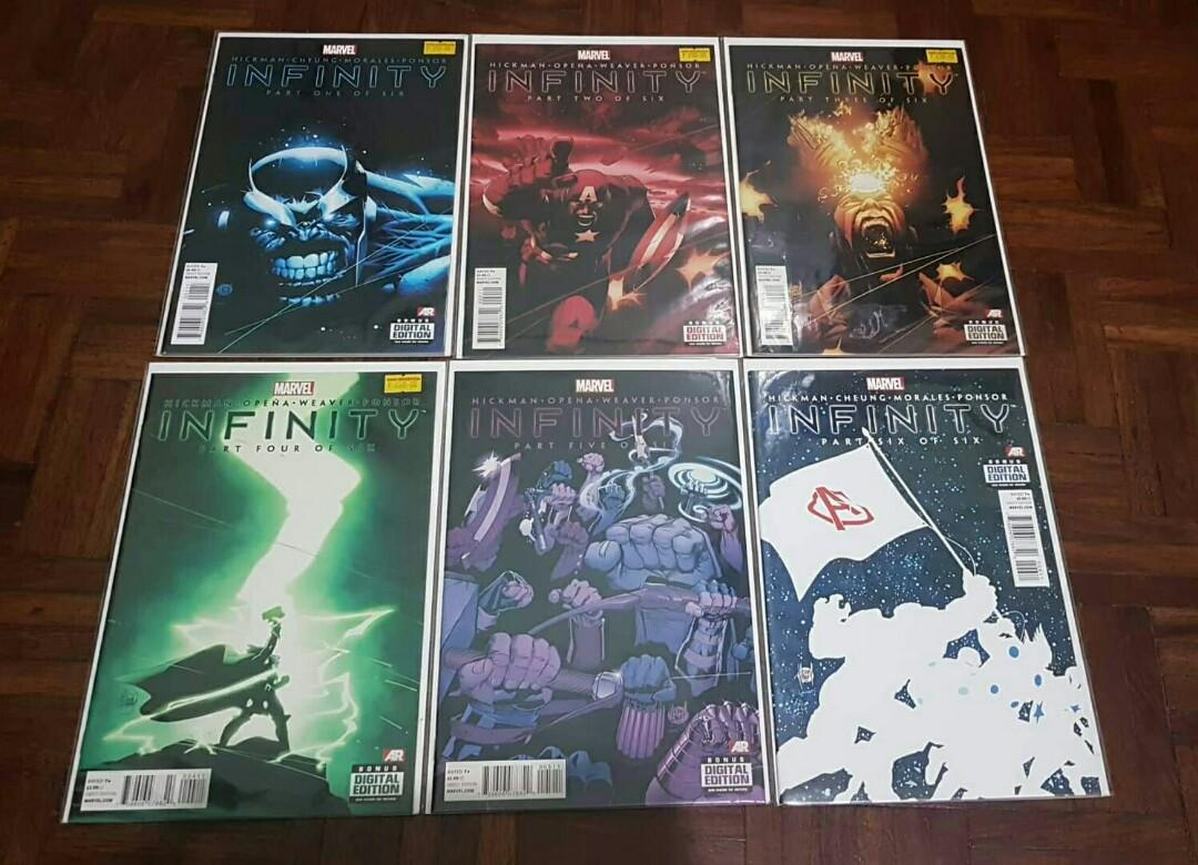 Marvel Comics Infinity Gauntlet, War, Crusade, and tie ins. Thanos Iron Man Captain America Spider-Man Wolverine Hawkeye Hulk Black Widow Doctor Strange