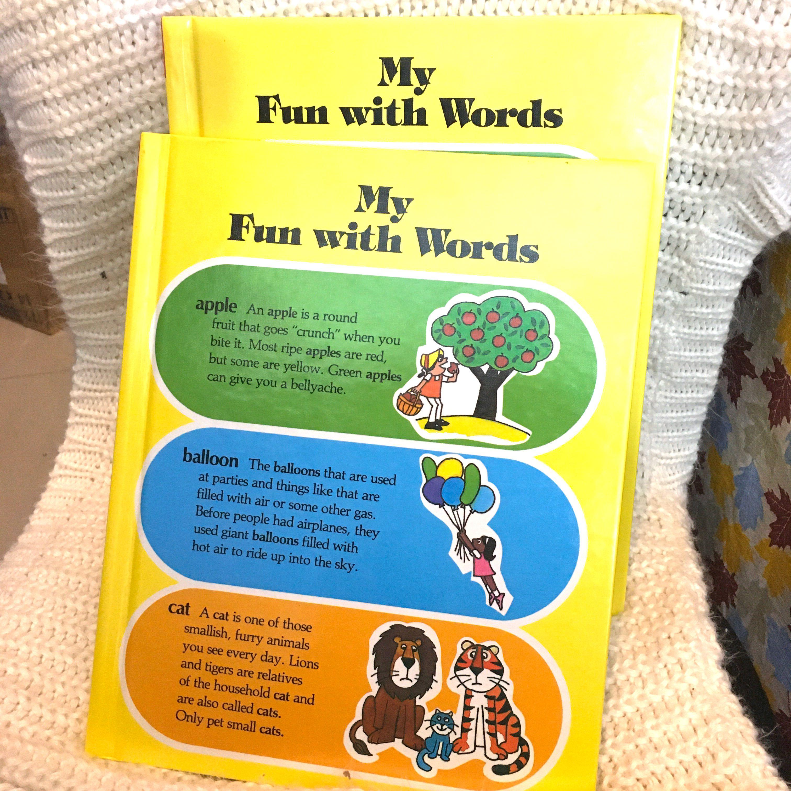 My Fun With Words A-K and L-Z Set of 2 Books Bundle Take All Educational Books
