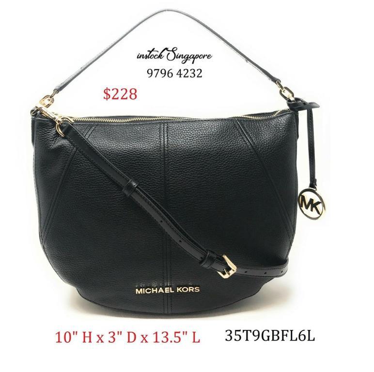 READY STOCK authentic new Michael Kors Medium Crescent Shoulder Bag Crossbody Leather Handbag Leather