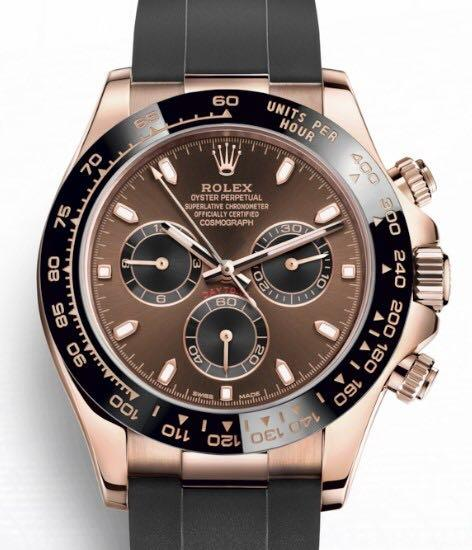 Rolex Daytona Oysterflex Chocalate Dial Everose Gold Ref: 116515LN Chocolate Dial - Unworn Complete Overseas Set with Box and Papers