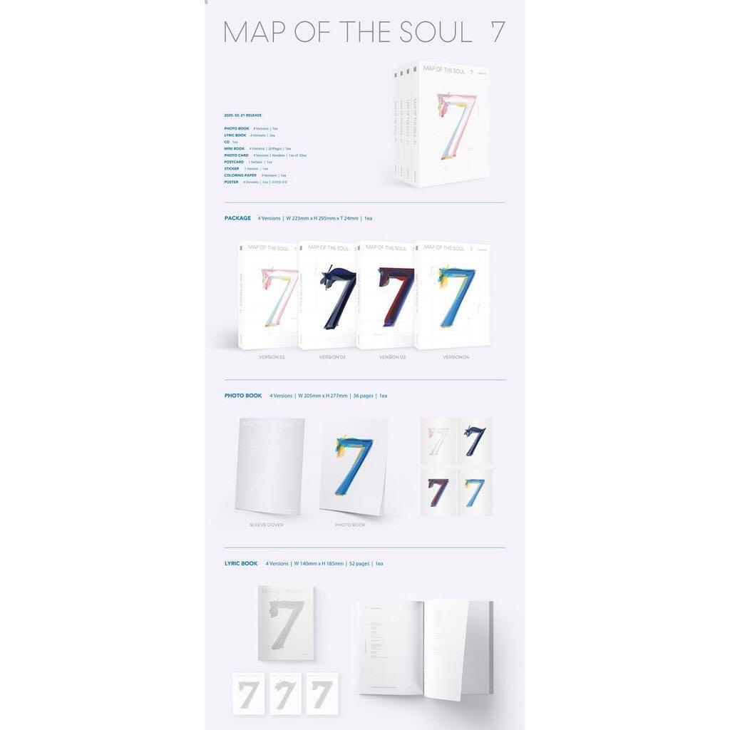 (SET) [REGULAR] BTS Bangtan Album MAP OF THE SOUL : 7