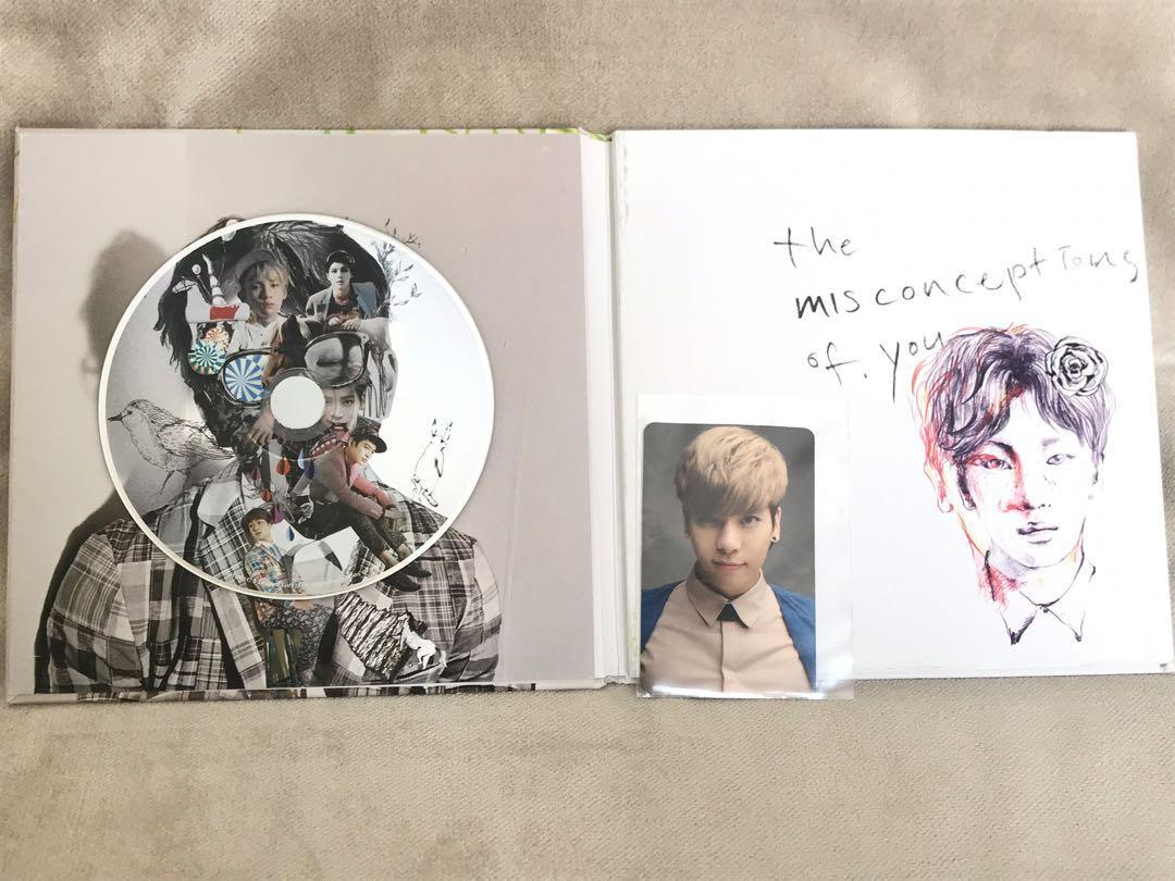 SHINee Album Set + PC Jonghyun (Misconceptions of You & Me)