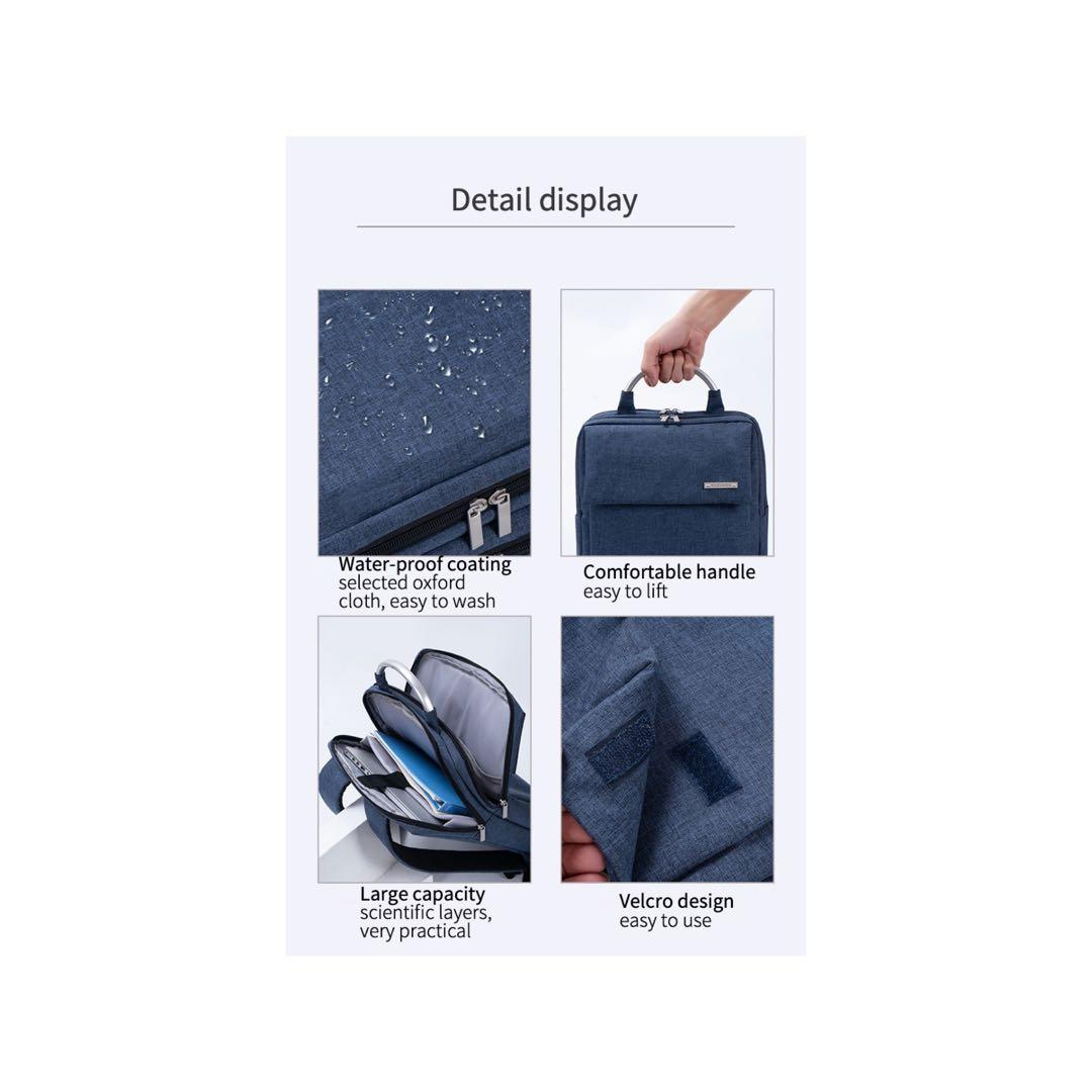 Simple Business Backpack + storage bag(random color) Six Pieces set gift