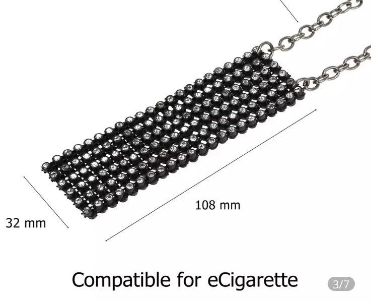 Sparkling Crystal Mesh Pouch for Juul e-Cigarettes