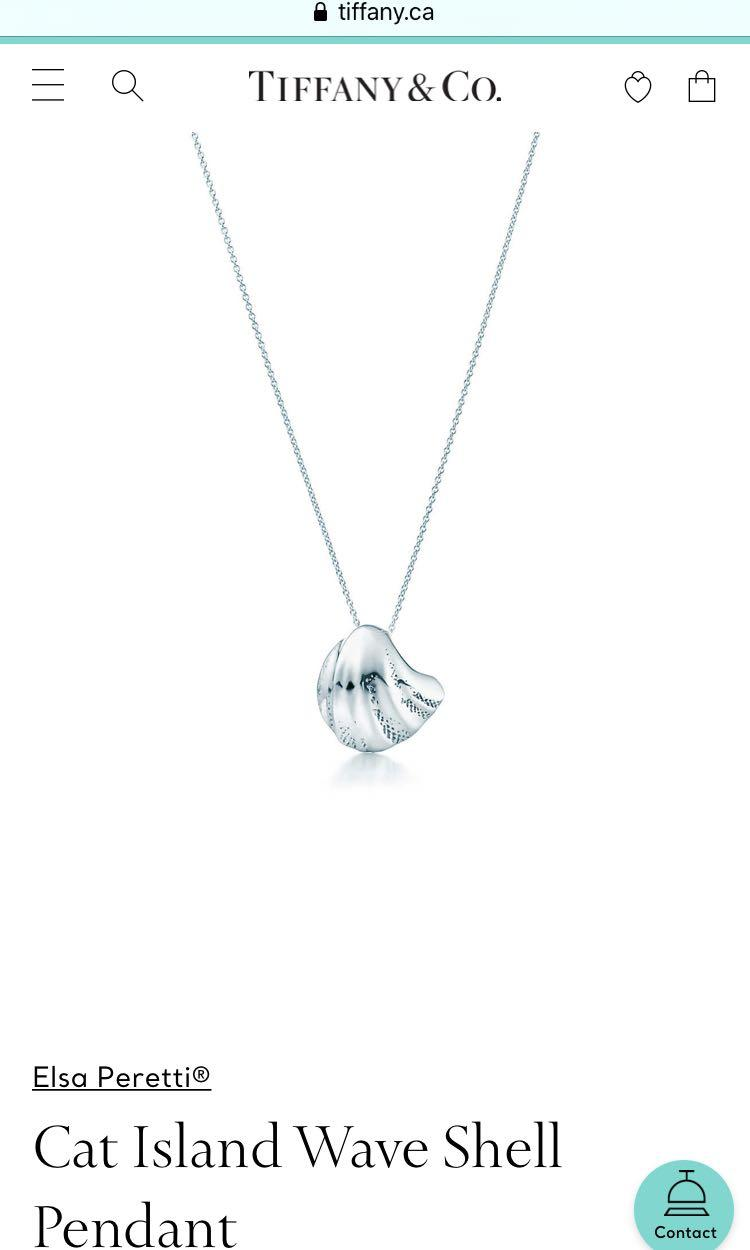 Tiffany and co authentic Cat Island Wave Shell Pendant in stirling silver