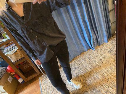 ZARA率性襯衫(深灰)